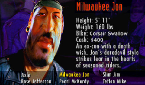 Road Rash - Milwaukee Jon