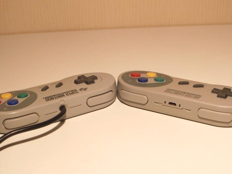 snes-controller-vs-8bitdo-controller-schulter-tasten